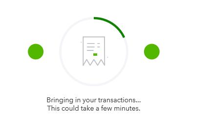 wait til the bank feeds connect
